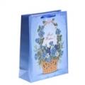 """Пакет ламинированный """"Незабудки в корзине"""", цвет синий"""